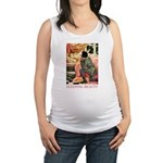 Sleeping Beauty_red Maternity Tank Top