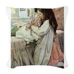 SEVEN AGES- Baby Doll Woven Throw Pillow