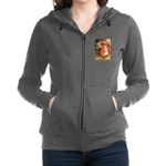 Little Red Riding Hood_gold Women's Zip Hoodie