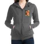 Little Red Riding Hood_blue Women's Zip Hoodie