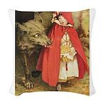 Little Red Riding Hood Woven Throw Pillow
