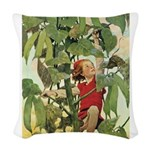 Jack and the Beanstalk Woven Throw Pillow