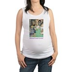 Hansel and Grete_purple Maternity Tank Top