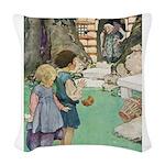 Hansel and Gretel Woven Throw Pillow
