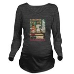 GOLDILOCKS_RED Long Sleeve Maternity T-Shirt
