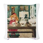 GOLDILOCKS_PURPLE Woven Throw Pillow