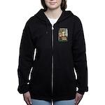 GOLDILOCKS_GREEN Women's Zip Hoodie