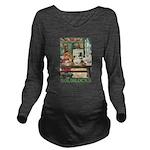 GOLDILOCKS_GREEN Long Sleeve Maternity T-Shirt
