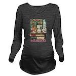 GOLDILOCKS_PINK Long Sleeve Maternity T-Shirt