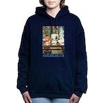 GOLDILOCKS_BLUE Women's Hooded Sweatshirt