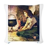 Cinderella_blue Woven Throw Pillow