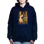 Babes in the Wood_blue Women's Hooded Sweatshi