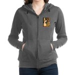 Babes in the Wood_purple Women's Zip Hoodie