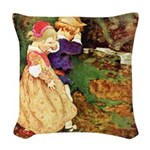 Babes in the Wood Woven Throw Pillow