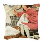 A Childs Book-Sewing Woven Throw Pillow