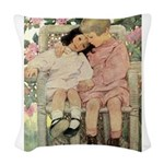 A Childs Book - brotherly love Woven Throw Pil