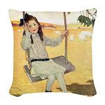 A Childs Book - swinger Woven Throw Pillow