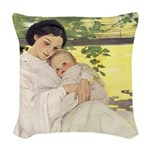 A Childs Book - Mothers Day Woven Throw Pillow