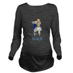 ALICE AND RABBIT 2 BLUE copy Long Sleeve Mater