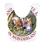 ALICE AND THE WHITE KNIGHT_RED copy Bib