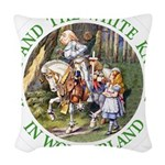 ALICE AND THE WHITE KNIGHT_GREEN copy Woven Th
