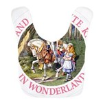ALICE AND THE WHITE KNIGHT_PINK copy Bib