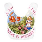 Alice Talking Flowers_PINK copy Bib