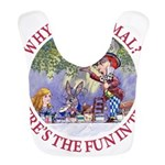 ALICE WHY BE NORMAL_red copy Bib