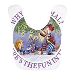 ALICE WHY BE NORMAL_purple copy Bib