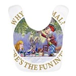 ALICE WHY BE NORMAL_gold copy Bib
