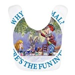 ALICE WHY BE NORMAL_blue copy Bib
