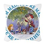 ALICE MAD HATTER WHY BE NORMAL_blue copy Woven