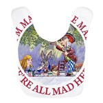 ALICE MAD HATTER WHY BE NORMAL_RED copy Bib