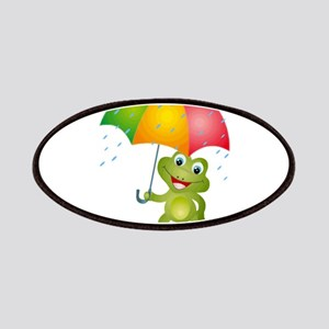 Frog Under Umbrella in the Rain Patches