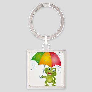 Frog Under Umbrella in the Keychains