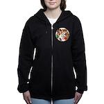 A round alice-white Women's Zip Hoodie