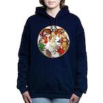 A round alice-white Women's Hooded Sweatshirt