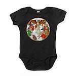 A round alice-white Baby Bodysuit
