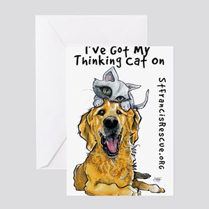 My Thinking Cat On Greeting Cards