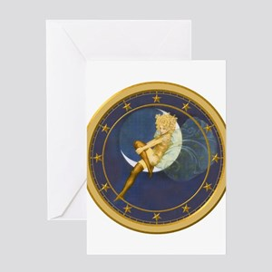 ! ONCE IN A BLUE MOON CLOCKx Greeting Card