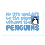 Without Penguins Rectangle Sticker