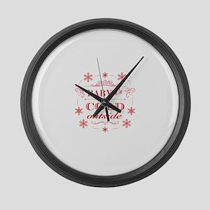 Winter Joy - Winter Wonderland Large Wall Clock
