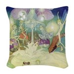The Fairy Circus007_SQ Woven Throw Pillow
