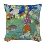 The Fairy Circus002_SQ Woven Throw Pillow