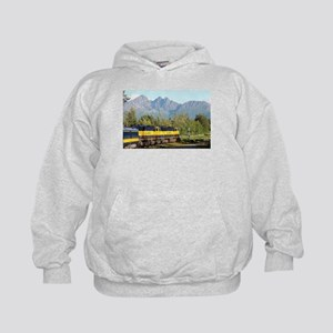 Alaska Railroad locomotive engine & mo Kids Hoodie