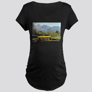 Alaska Railroad locomotive engin Maternity T-Shirt