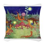 The Fairy Circus003_10x14 Woven Throw Pillow