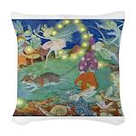 The Fairy Circus002_10x14 Woven Throw Pillow