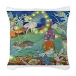 The Fairy Circus002_10x14 Woven Throw Pillow