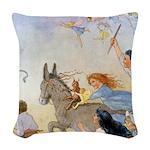 In Wheelabout Cockalone006 Woven Throw Pillow